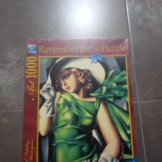 Puzzles: PUZZLE RAVENSBURGER 1000 YOUNG LADY WITH GLOVES DE LEMPICKA. NUEVO SIN ABRIR. Lote 183542117
