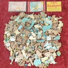 Puzzles: PUZZLE DE 381 PIEZAS. MAPA DE EUROPA, TRAJES TIPICOS. CHOCOLATES BOIX. SIGLO XX.. Lote 183978543