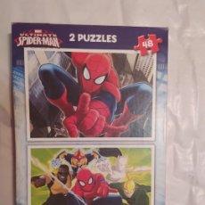 Puzzles: 2 PUZZLE MARVEL SPIDER-MAN EDUCA COMPLETO. Lote 184743078