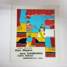Puzzles: PUZZLE DON PEPINO, LORO CASIMIRO / AÑOS 80 - GRAN TAMAÑO 20 X 17 CMS.. Lote 186013417