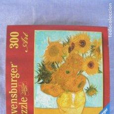 Puzzles: PUZZLE RAVENSBURGER ART, LOS GIRASOLES DE VAN GOGH, 300 PIEZAS. Lote 186028842