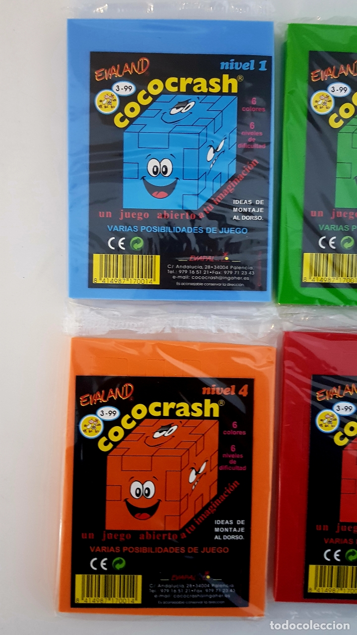 Puzzles: LOTE 6 COCO-CRASH COLECCION COMPLETA NUEVOS SIN ABRIR EVALAND COCOCRASH - Foto 2 - 242039320