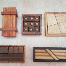 Puzzles: LOTE 5 JUEGOS ROMPECABEZAS DE MADERA. Lote 178836530