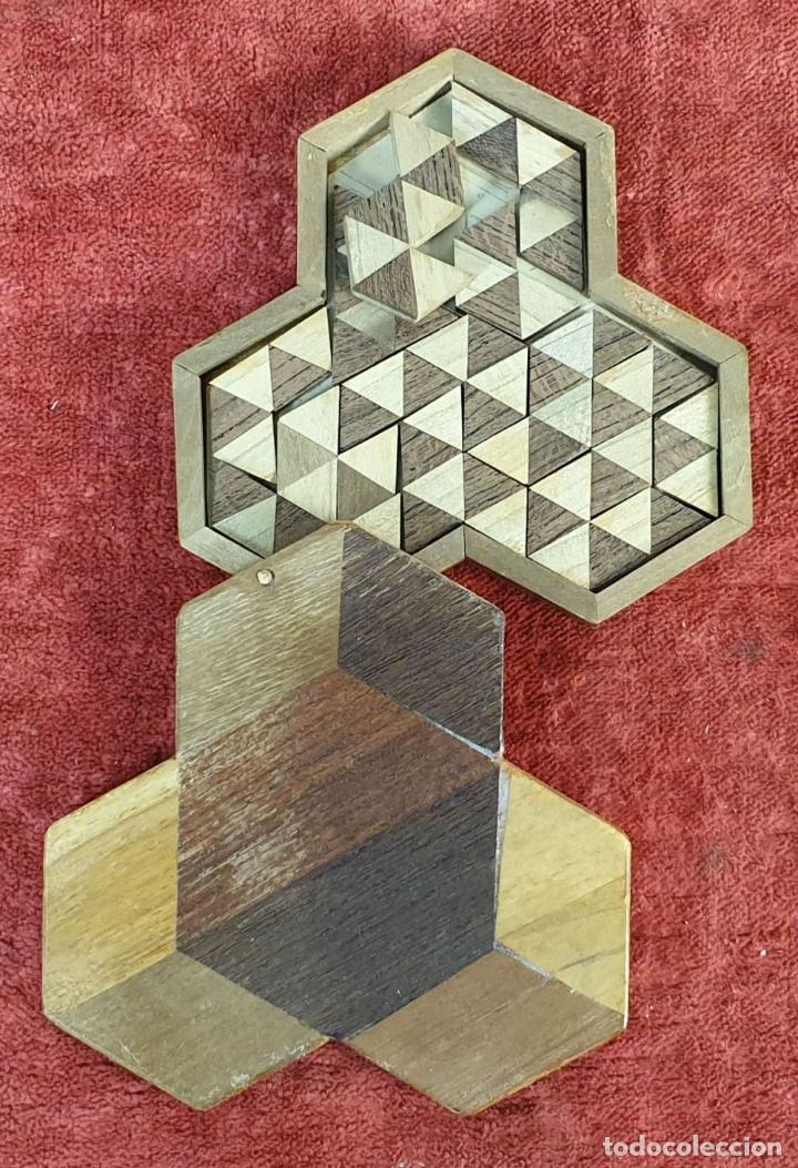 Puzzles: CAJA DE CAUDALES, CAJA Y 3 PUZZLES. MADERA TALLADA. SIGLO XIX-XX. - Foto 10 - 187151320