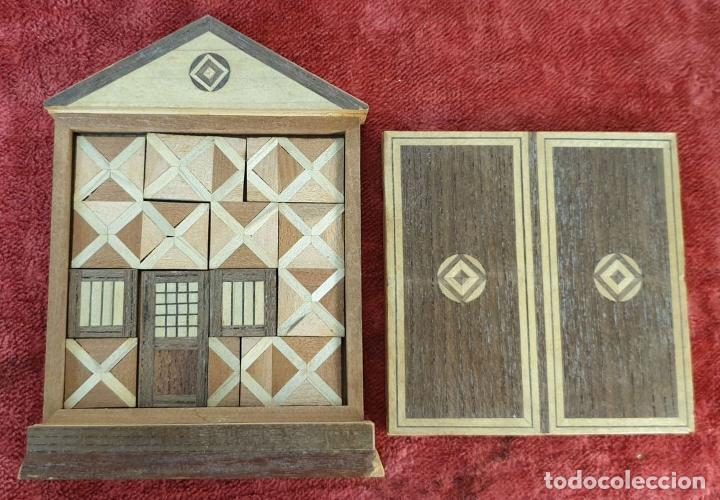 Puzzles: CAJA DE CAUDALES, CAJA Y 3 PUZZLES. MADERA TALLADA. SIGLO XIX-XX. - Foto 11 - 187151320