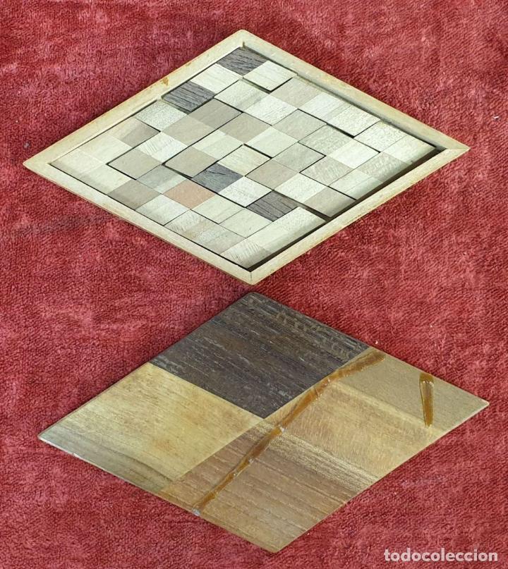 Puzzles: CAJA DE CAUDALES, CAJA Y 3 PUZZLES. MADERA TALLADA. SIGLO XIX-XX. - Foto 12 - 187151320