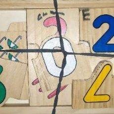 Puzzles: PUZZLE MADERA PARA NIÑOS APRENDER NUMEROS. Lote 187545527