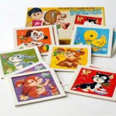 Puzzles: ANTIGUO JUEGO ROMPECABEZAS INFANTIL. 6 MODELOS DISTINTOS. SERIE ANIMALITOS. REF. 145. MADE IN SPAIN. Lote 187641353
