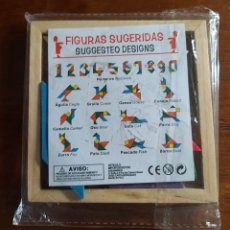 Puzzles: ROMPECABEZAS CHINO DE MADERA. TANGRAM. COLORES. JUEGO.. Lote 188675156