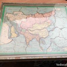 Puzzles: ANTIGUO PUZZLE DE MADERA. CAJA CON 5 PUZZLES DE GEOGRAFIA (J-3). Lote 189301297