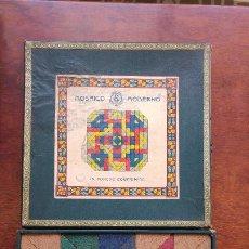 Puzzles: MOSAICO MODERNO EN CORCHO COMPRIMIDO MOSAICOS JUEGO ANTIGUO. Lote 130992488