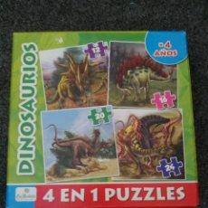 Puzzles: PUZZLE DINOSAURIOS 4 EN 1. + 4 AÑOS. Lote 189745107