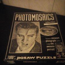 Puzzles: PUZZLE FOTOMOSAICOS ELVIS PRESLEY BY ROBERT SILVERS,BUFFALO GAMES,BLANCO Y NEGRO AÑO 2004. Lote 190576776