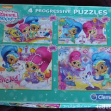 Puzzles: SHIMMER & SHINE 4 PUZZLES PROGRESIVOS. Lote 190592685
