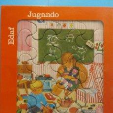 Puzzles: PUZZLES JUGANDO. MIS PRIMEROS PUZZLES. 20 PIEZAS A PARTIR DE 4 AÑOS. EDAF. Lote 190699897