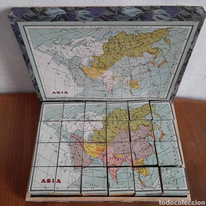 Puzzles: Antiguo rompecabezas en caja de madera - Foto 2 - 190909308