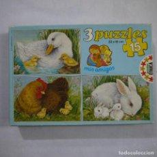 Puzzles: CAJA CON 3 PUZZLES DE 15 PIEZAS. COLECCIÓN MIS AMIGOS - EDUCA - 1985. Lote 191339117