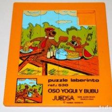 Puzzles: PUZZLE / PUZLE LABERINTO - REF. 530 - OSO YOGUI Y BUBU - HANNA BARBERA - JUEDSA - '80S. - 20X17 CM.. Lote 191497596