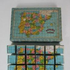 Puzzles: PUZLE - ROMPECABEZAS - CUBOS DE CARTÓN - ESPAÑA Y PORTUGAL + LOS 5 CONTINENTES - COMPLETO. Lote 191582358