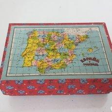 Puzzles: PUZZLE CUBO CON MAPAS GEOGRAFICOS DEL MUNDO 13X8,5CMS. Lote 191702875