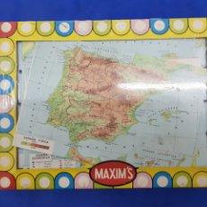 Puzzles: ROMPECABEZAS MAXIM'S , MAPAS DE ESPAÑA , AÑOS 1970. Lote 191827528
