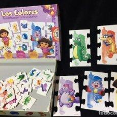 Puzzles: PUZZLE DORA LA EXPLORADORA, LOS COLORES. Lote 192155103