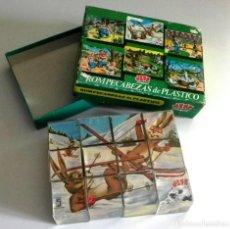 Puzzles: ANTIGUO PUZLE DE PIEZAS CUBOS - ROMPECABEZAS - 6 DIBUJOS DE ANIMALES - JEFE - JUGUETE VINTAGE RETRO. Lote 192256401