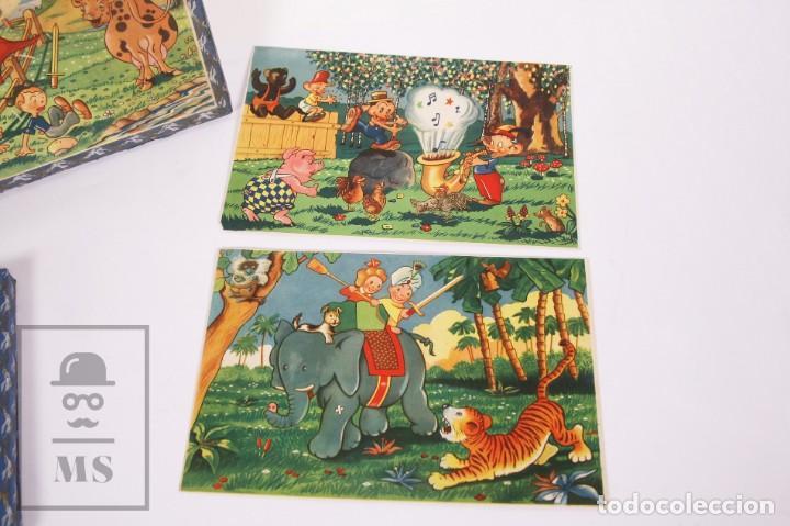 Puzzles: Antiguo Puzzle / Puzle de los Años 30-40 - 3 Escenas - Madera y Papel - Medidas 26 x 18 x 2 cm - Foto 2 - 192983875