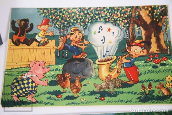 Puzzles: Antiguo Puzzle / Puzle de los Años 30-40 - 3 Escenas - Madera y Papel - Medidas 26 x 18 x 2 cm - Foto 3 - 192983875