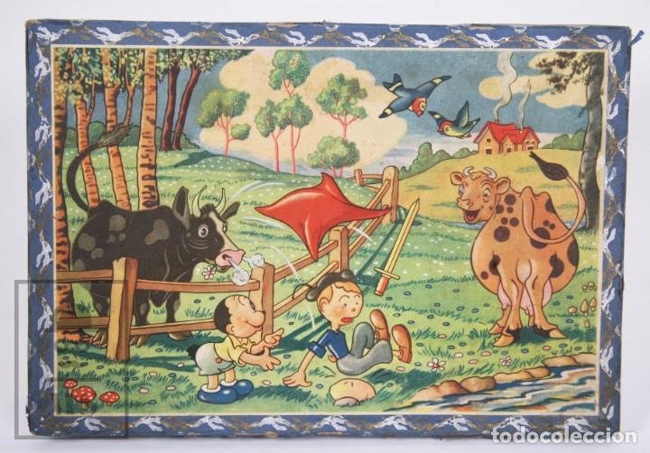 Puzzles: Antiguo Puzzle / Puzle de los Años 30-40 - 3 Escenas - Madera y Papel - Medidas 26 x 18 x 2 cm - Foto 4 - 192983875