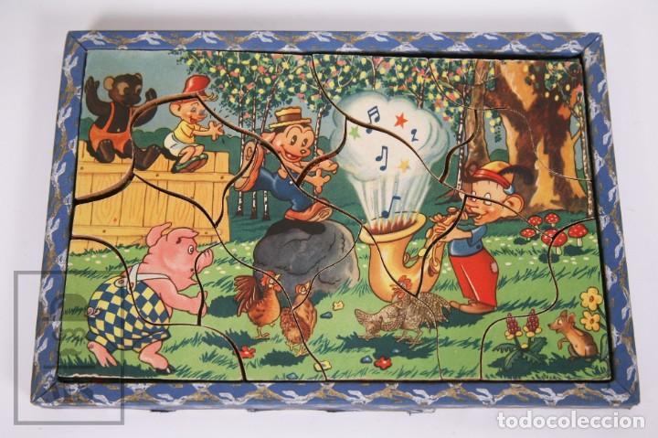Puzzles: Antiguo Puzzle / Puzle de los Años 30-40 - 3 Escenas - Madera y Papel - Medidas 26 x 18 x 2 cm - Foto 5 - 192983875