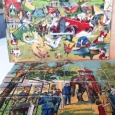 Puzzles: ROMPECABEZAS ANTIGUO - CUBOS DE MADERA. Lote 193757380