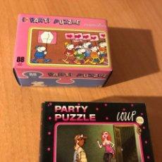 Puzzles: DIVERTIDA PAREJA DE PARTY PUZZLE DE 88 PIEZAS. MORDILLO Y LOUP. HEYE. LOTE 1. A ESTRENAR. Lote 194357671