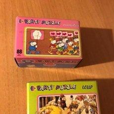 Puzzles: DIVERTIDA PAREJA DE PARTY PUZZLE DE 88 PIEZAS. MORDILLO Y LOUP. HEYE. LOTE 4. A ESTRENAR. Lote 194357835