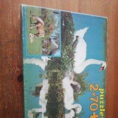 Puzzles: PUZZLE CISNES / CABALLOS. 2X70 PIEZAS. EDUCA. REF. 6971. Lote 194368097