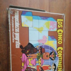 Puzzles: ROMPECABEZAS GEOGRÁFICO LOS CINCO CONTINENTES. DALMAU CARLES PLA. REF. 161.. Lote 194368961