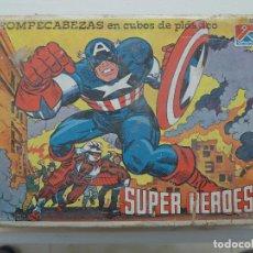 Puzzles: ROMPECABEZAS EN CUBOS DE PLASTICO - SUPER HEROES - DALMAU. Lote 194406345