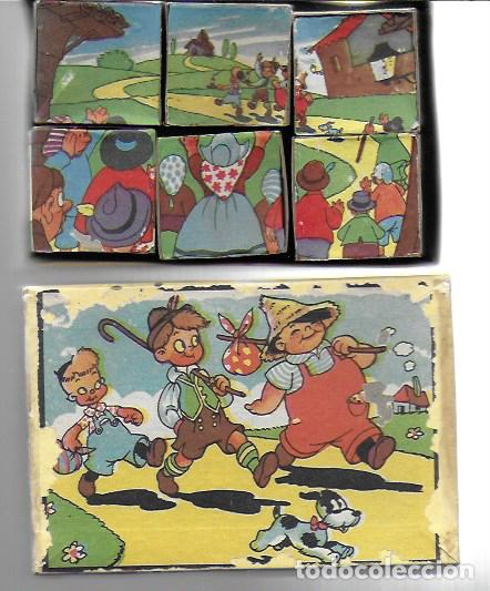 ROMPECABEZAS 6 CUBOS DE CARTÓN. BARCELONA . GRÁFICAS HAMBURG, AÑOS 40/50 (Juguetes - Juegos - Puzles)