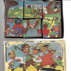 Puzzles: ROMPECABEZAS 6 CUBOS DE CARTÓN. BARCELONA . GRÁFICAS HAMBURG, AÑOS 40/50. Lote 194610092
