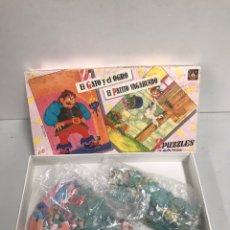 Puzzles: EL GATO Y EL OGRO & EL PATITO VAGABUNDO. Lote 195124476