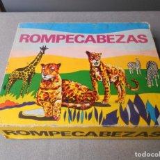 Puzzles: ROMPECABEZAS ANIMALES DE LA SELVA. CUBOS DE CARTON. Lote 195205367