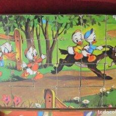 Puzzles: PUZLE ROMPECABEZAS DE 24 CUBOS CON 6 ESCENAS DE WALT DISNEY AÑOS 40, BUEN ESTADO. Lote 196958962