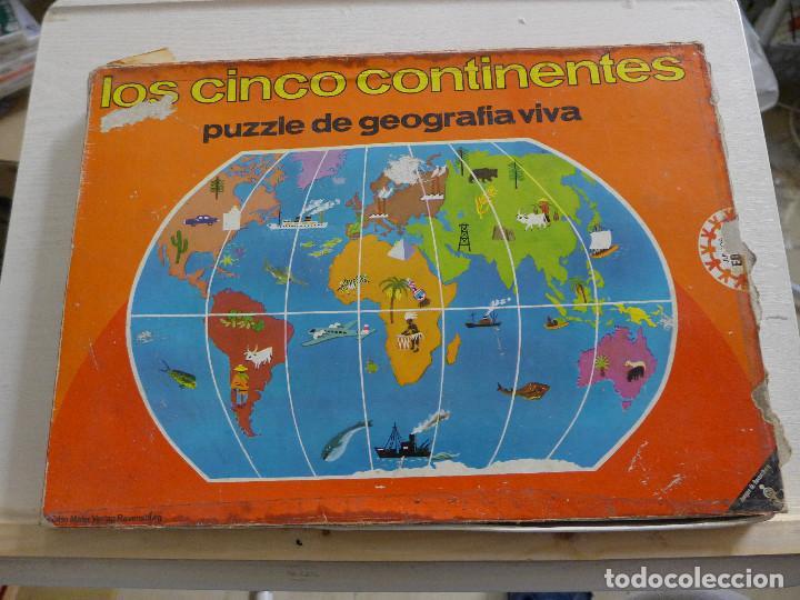 LOS CINCO CONTINENTES PUZZLE DE GEOGRAFIA VIVA DE EDUCA COMPLETO (Juguetes - Juegos - Puzles)