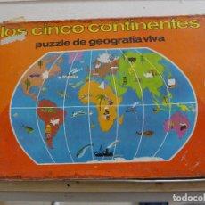 Puzzles: LOS CINCO CONTINENTES PUZZLE DE GEOGRAFIA VIVA DE EDUCA COMPLETO. Lote 197326826