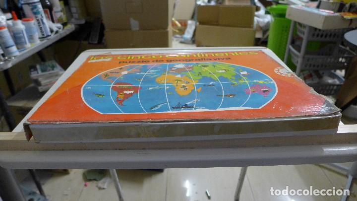 Puzzles: LOS CINCO CONTINENTES PUZZLE DE GEOGRAFIA VIVA DE EDUCA COMPLETO - Foto 3 - 197326826