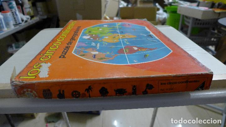 Puzzles: LOS CINCO CONTINENTES PUZZLE DE GEOGRAFIA VIVA DE EDUCA COMPLETO - Foto 4 - 197326826