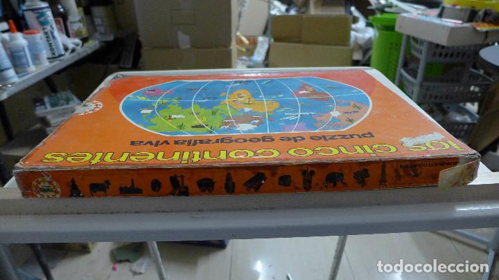 Puzzles: LOS CINCO CONTINENTES PUZZLE DE GEOGRAFIA VIVA DE EDUCA COMPLETO - Foto 5 - 197326826