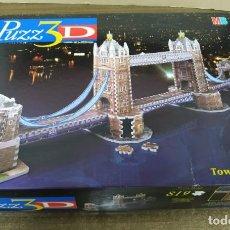 Puzzles: PUZZLE 3D TOWER BRIDGE 819 PIEZAS MB MILTON BRADLEY JUGUETE EXTRA DESAFIANTE. Lote 228587405