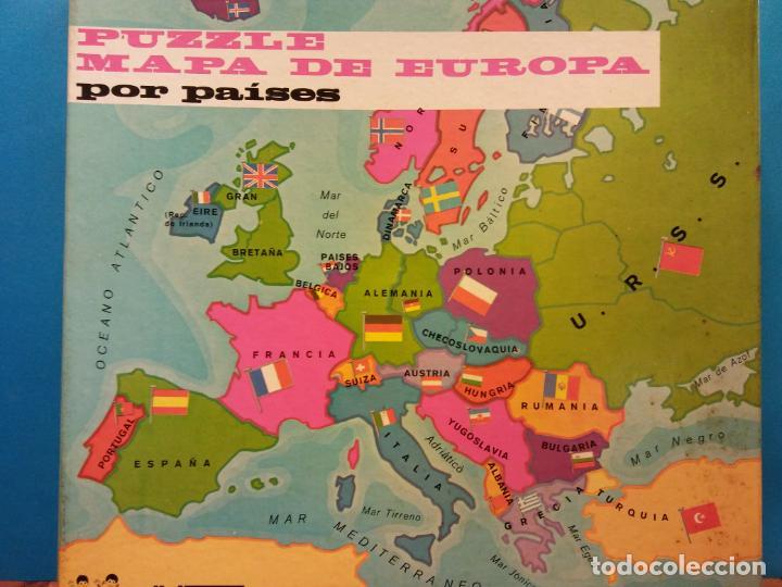 PUZZLE MAPA DE EUROPA POR PAÍSES. JUEGOS DIDACIA. MEDIDAS 30*30 CM (Juguetes - Juegos - Puzles)