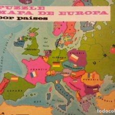 Puzzles: PUZZLE MAPA DE EUROPA POR PAÍSES. JUEGOS DIDACIA. MEDIDAS 30*30 CM. Lote 198024573